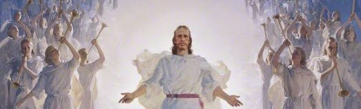 The Second Coming of Christ with angels by Harry Anderson. Courtesy Gospel Media Library, The Church of Jesus Christ of Latter-day Saints.