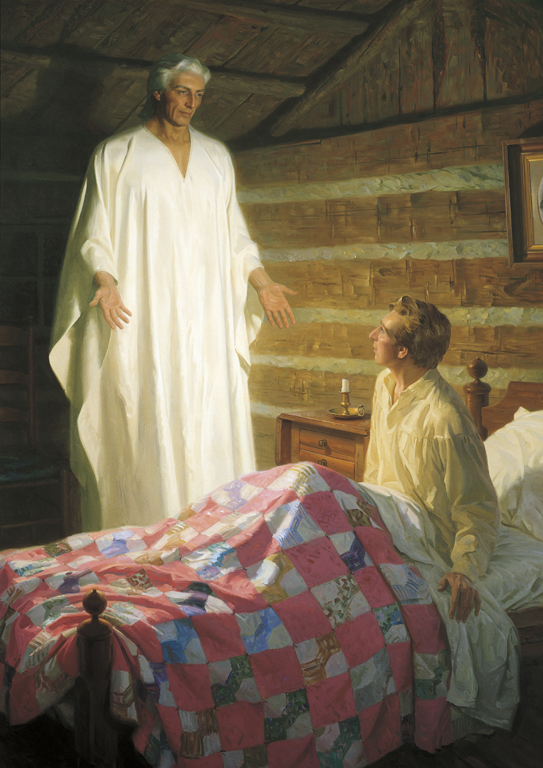 Angel Moroni appears to young Joseph