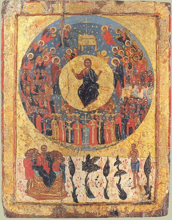 Image of Christ's Second Coming. Icon from Greece, circa 1700.