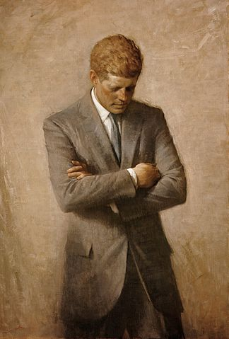 Official Whitehouse portrait of John F. Kennedy (Aaron Shikler, 1970)
