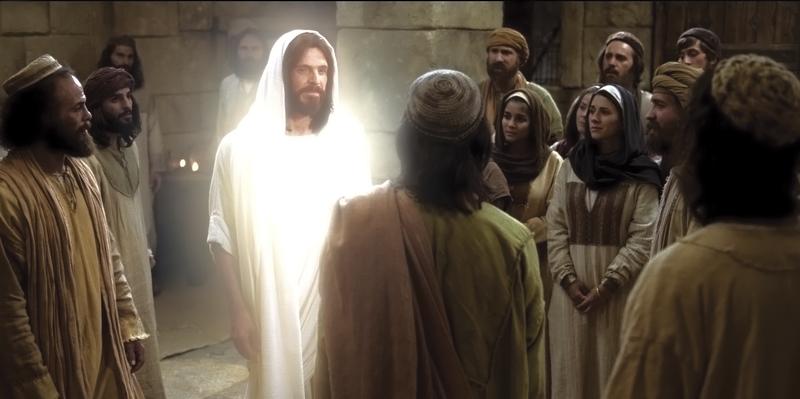 The Resurrected Christ appears to his disciples. Copyright IRI, Inc. Courtesy Gospel Media, https://www.churchofjesuschrist.org/media