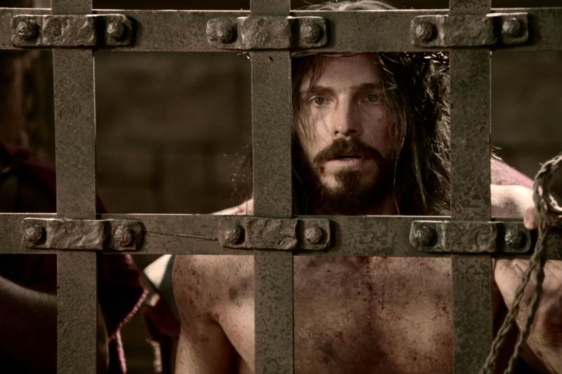 Jesus is scourged. Copyright IRI, Inc. Courtesy Gospel Media, https://www.churchofjesuschrist.org/media